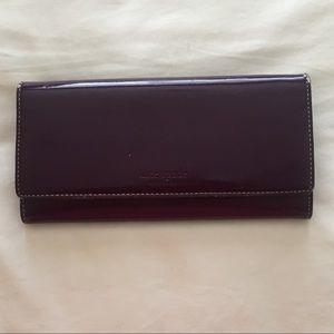 Kate Spade Patent Wallet - Plum